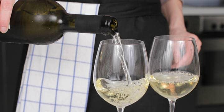 Vita viner till Risotto