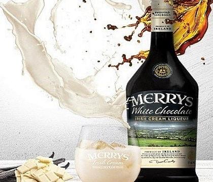 en flaska Merry chokladlikör
