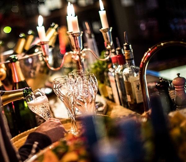 fördrinken på Winemaker 's dinner