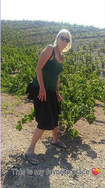 Vinetikett: Solveig bland vinrankorna