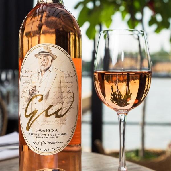 GW:S ROSA bild på flaskan