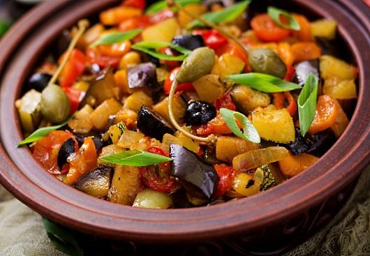 vegetarisk: grönsaksgryta Caponata