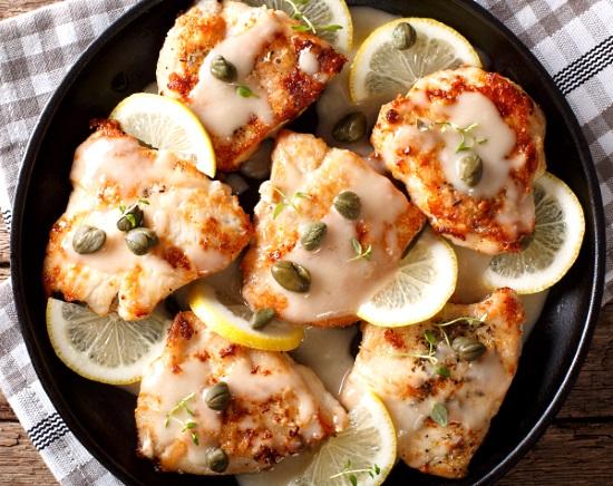 Roséviner: kyckling piccata