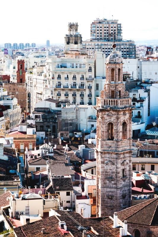 Medelhavet: bild på staden Valencia