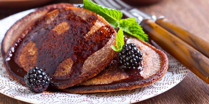 Zebra-vin - pannkakor med choklad och bär
