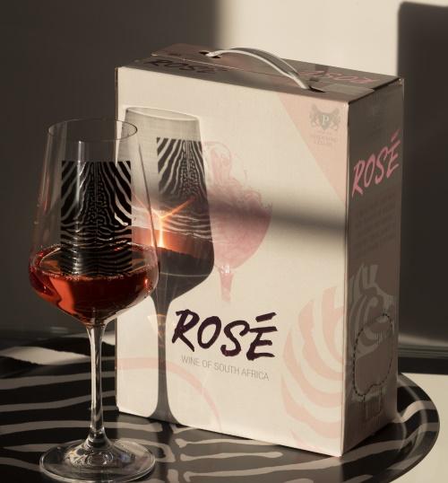 Zebra-vin roséboxen