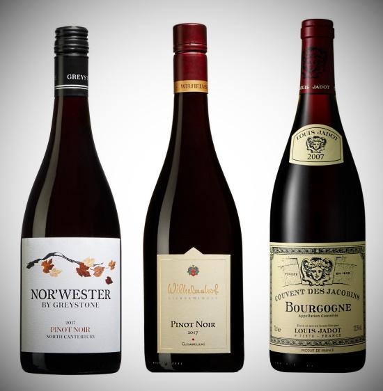 Pinot Noir - 3 viner som provas