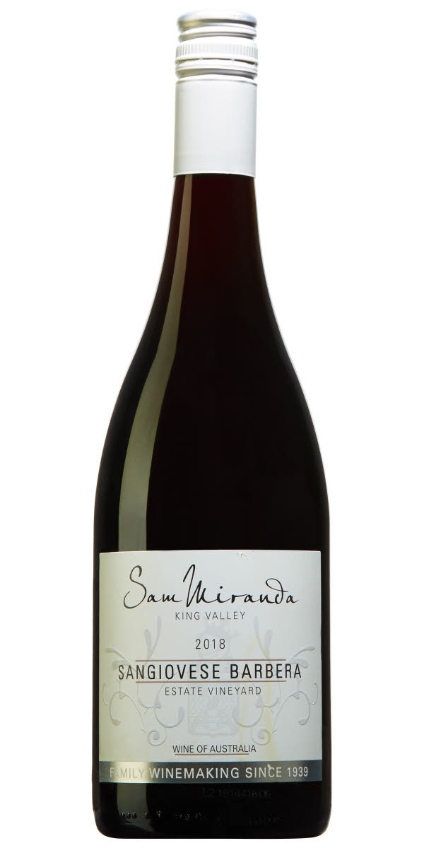 sam miranda sanigovese barbera bottle