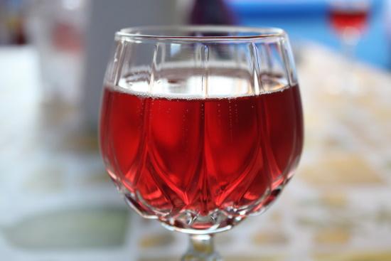 Lambrusco - ett fullt glas