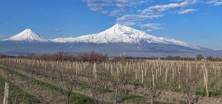 georgien - vy över bergen vingårdar