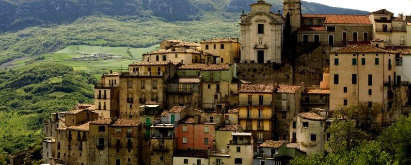 stad i vinregionen abruzzo i Italien