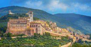 Perugia huvudstad i vinregionen umbrien i centrala italien