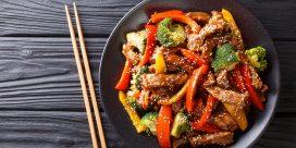 Moscato d'Asti med god, sötsur wok!