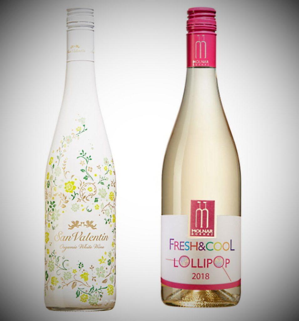 hjärtans - 2 flaskor vitt vin