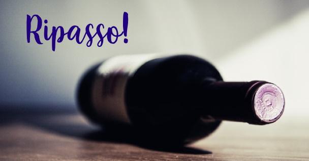 Ripasso vin en flaska som ligger