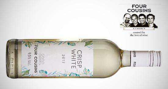 Four Cousins Crisp White - flaska vin med mindre alkohol