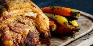 Il-Drage-e-la-Fornace-Chianti - helt fläskstek med rostade grönsaker