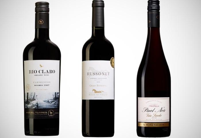 Nya världens viner - tre provade vinflaskor