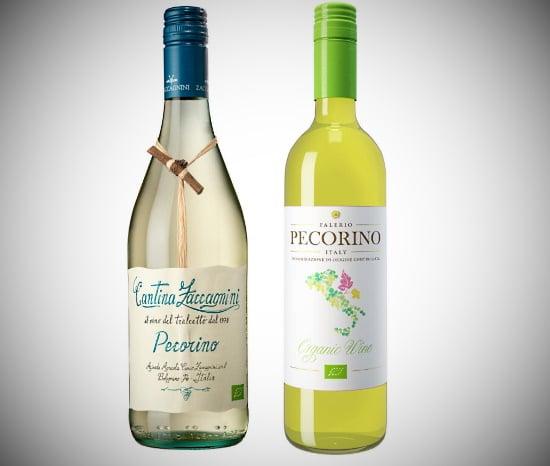 Pecorino - två olika viner