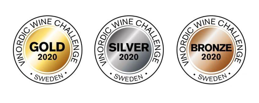Vinordic Wine Challenge 2020 - medaljer