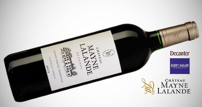 Bordeaux-vin Chateau ayne Lalande - flaska med priser