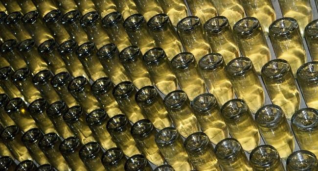 franciacorta - flaskor lagras