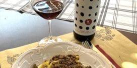 Italiensk vildsvinsragu i rödvinssås & en Chianti