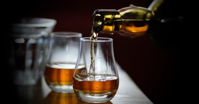 vinfrågor - ett glas whisky