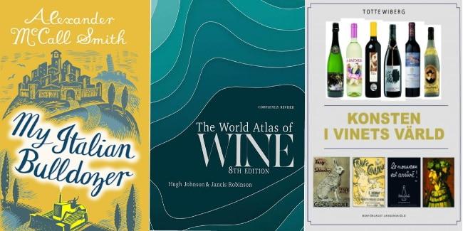 böcker om vin omslag på 3 böcker till