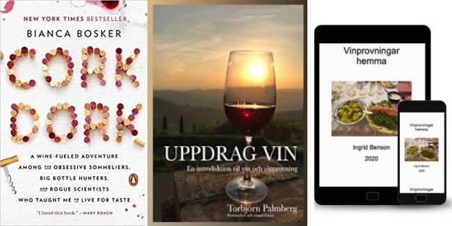 böcker om vin omslag på ytterligare 3 böcker