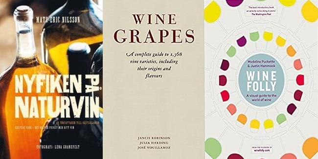 böcker om vin omslag på de sista 3 böckerna