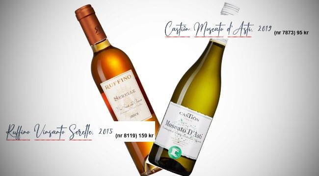 söta viner - Moscato och Vinsanto