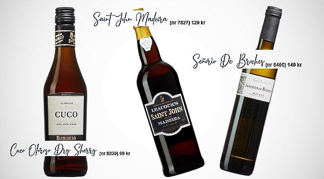 söta viner- madeira, sherry och moscatel