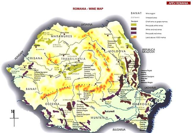 Rumänien - karta över landet