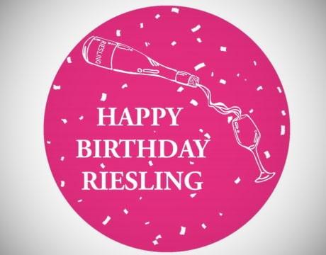 druvan Riesling - happy birthday