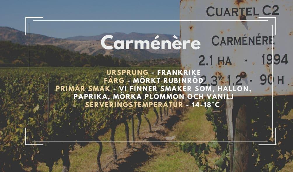 fakta ruta om Carménère