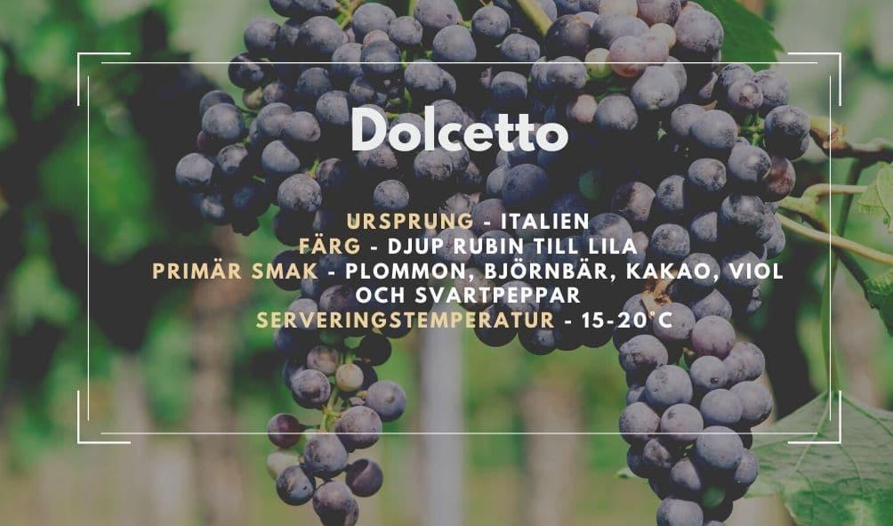 Fakta ruta om Dolcetto