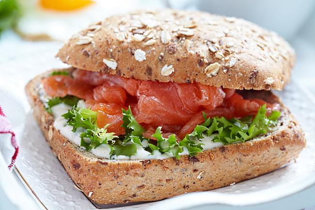 picknickvinet Reuben Lox sandwich