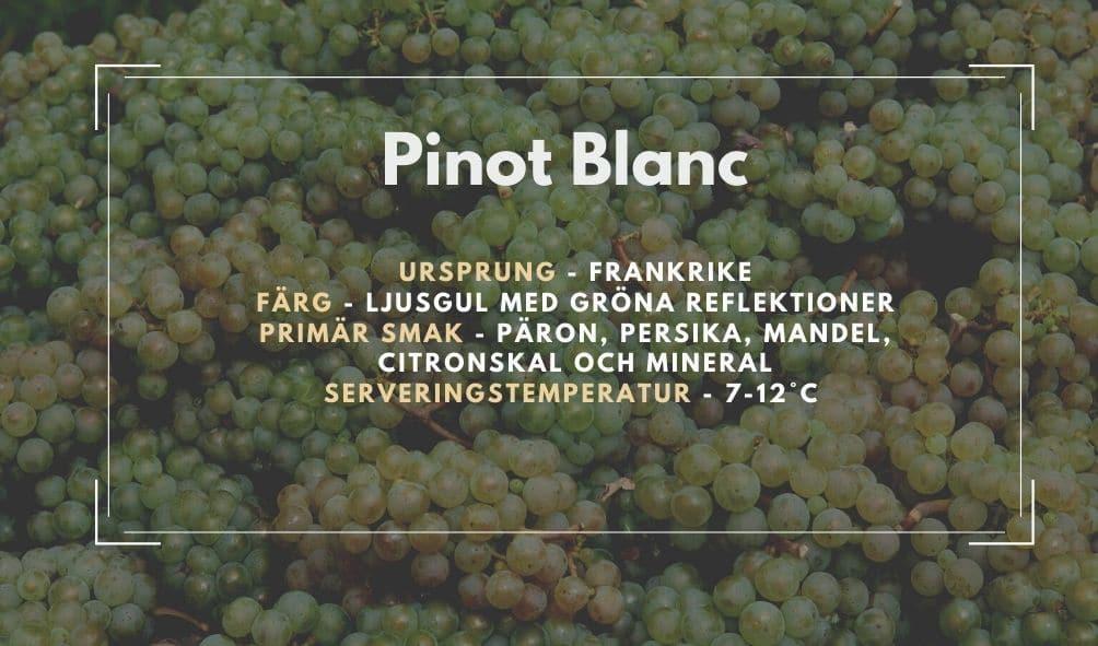 Fakta ruta om Pinot Blanc