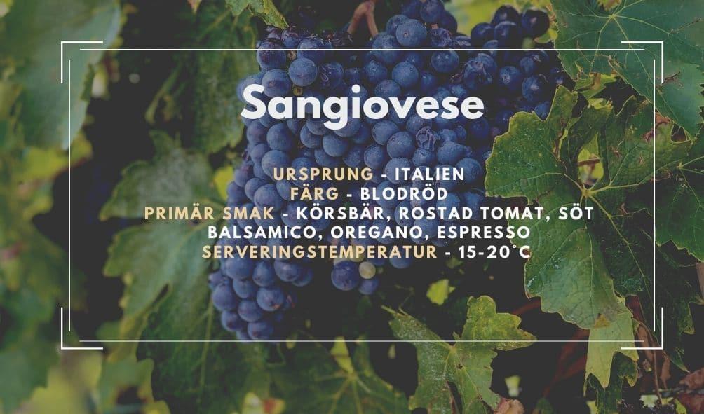 Fakta ruta om Sangiovese
