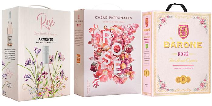 test av rose vinboxar