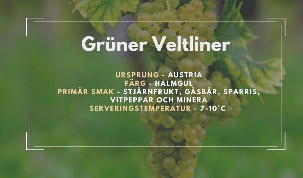Fakta ruta om Grüner Veltliner