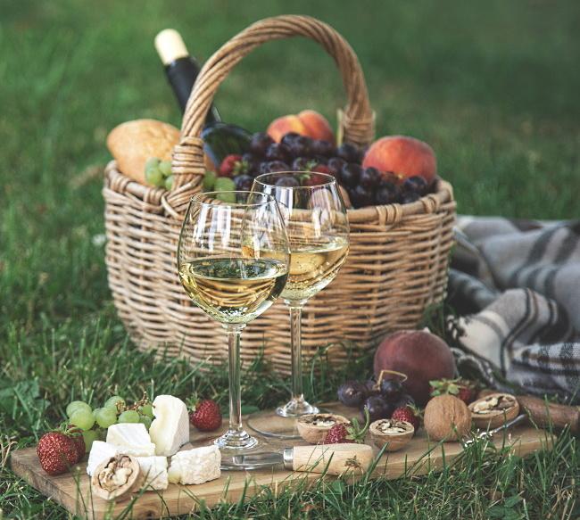 picknickvinet  en picknickkorg