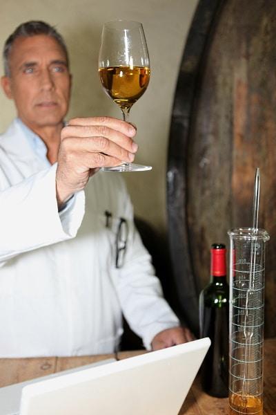socker i vin - vinet mäts av vinmakare