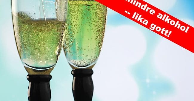 cider musserande - 2 glas bubbel