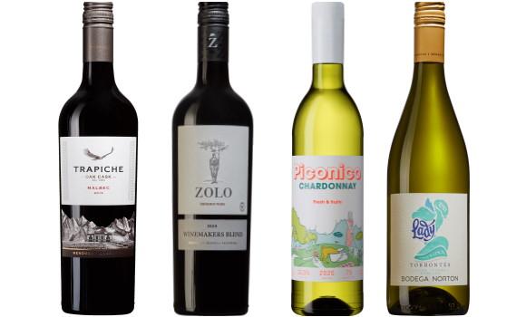 argentinas vienr 6 olika vinet röda och vita