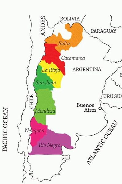 karta argentina viner